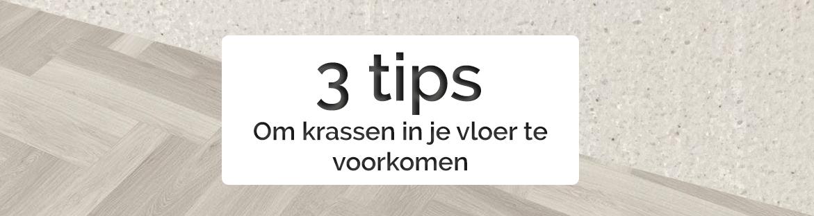 Voorkom krassen in je vloer met deze 3 tips