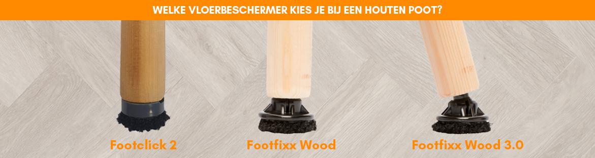 Welke beschermdop kies je bij houten poten?
